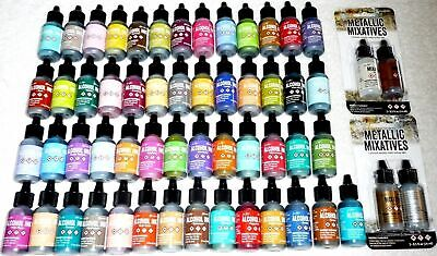 Ranger Tim Holtz Alcohol Inks Mixatives Pearls 2-3 Pack .5 oz New You Choose
