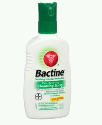 2 PACK Bactine Spray 5 fl oz Pain Itch Relieving Cleansing Antiseptic First Aid