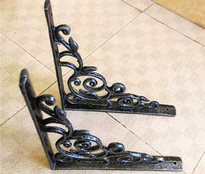 1 Pair Antique Cast Iron SHELF BRACKET wall bracket Support cistern toilet sink