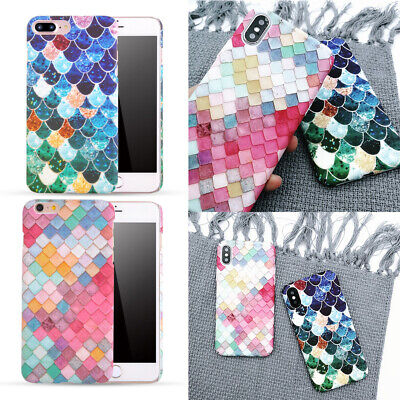 Colorful Ultra Thin Scale Design Shockproof Protective Case Cover For iPhone