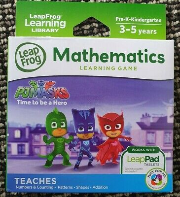 LeapFrog PJ Masks Time To Be A Hero Mathematics for LeapPad Tablets 3-5 yo NEW