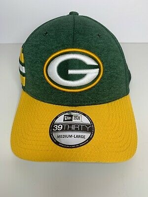 Green Bay Packers Cap New Era 39Thirty Stretch On Field 2018 Sideline M/L NWT