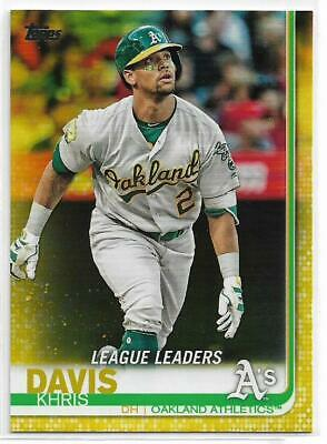2019 Topps Series 1 Khris Davis Walgreens Exclusive Yellow Parallel A's LL #189