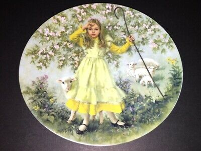 RECO Little Bo Peep Numbered Limited Edition Vintage Collector Plate 1983
