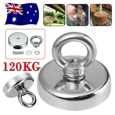 120 Kg Salvage Strong Recovery Magnet Neodymium Hook Treasure Hunting Fishing