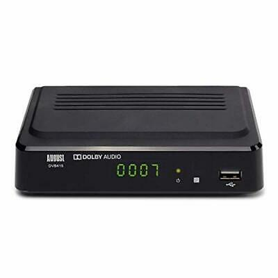 August Freeview Box Recorder HD DVB415 - HDMI and Scart Set Top Box with PVR for