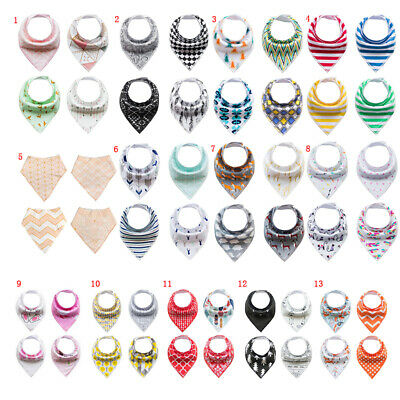 4Pcs Infant Baby Boy Girl Bibs Feeding Saliva Towel Dribble Triangle Bandana New