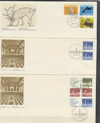 Canada FDC's 1988,Definitive Issues ( 6 Covers )