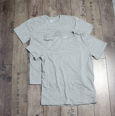 GAP Gr. 164 - 176 cm Kinder T-Shirt Jungs 2 PACK Top Kurzarm Oberteil Grau A3112