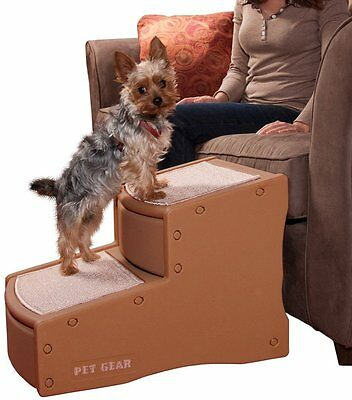 Pet Gear Easy Steps II Dog Cat Pet 2 Step Stair Cocoa up to 150 lbs.