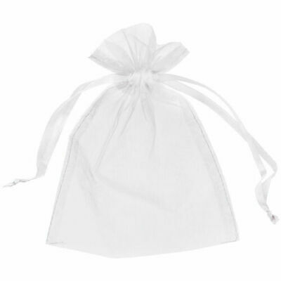 25 Small 7Cm X 9Cm Luxury White Organza Gift Bags Wedding Favour Sweet Bags Uk
