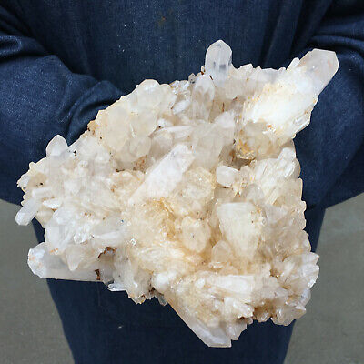 8.71LB Natural Clear Quartz Cluster Mineral Crystal point Healing SN1087-GL