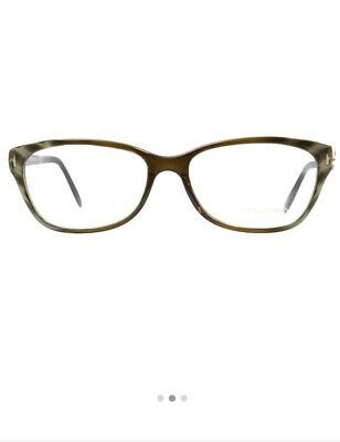 77835f01eb542 Tom Ford Eyeglasses RX TF5142 050 Optical Frame Authentic Olive Brown 54 15  135