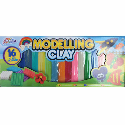 16 Coloured  Modelling Clay, Art & Craft, Brand New Kids multi Colours Clays