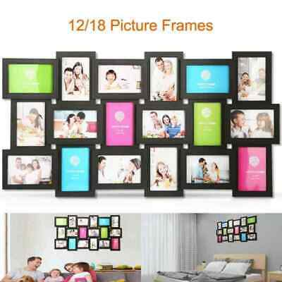 12 18 Pieces Multi Picture Wall Mount Photo Frames Collage Set Home Decor Us Hot