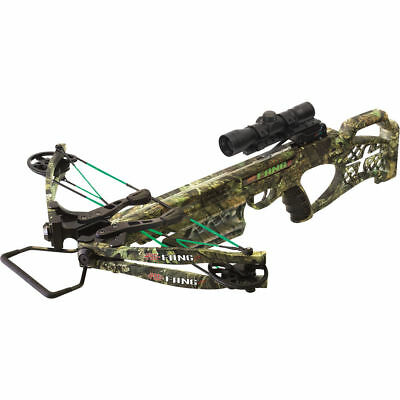 PSE Camo Fang 350fps XT Crossbow Package With 6 FREE NIGHTED NOCKS