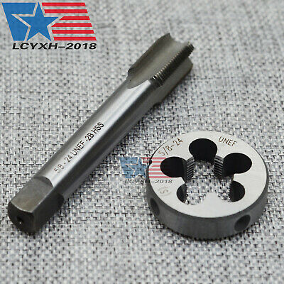 """New HSS 5/8""""-24 UNEF Right Hand Thread Tap and Die Set US Stock (5/8x24)"""