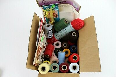 Lot of 26 spools of PURR-FECT PUNCH acrylic yarn + Needle, Patterns & Extras