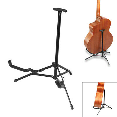 Electric Acoustic and Bass Guitar Folding Stand Black,Tripod Floor Guitar Stand