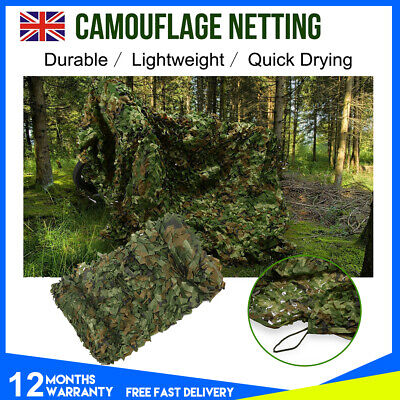 4X6m Army Military Camouflage Net Camo Paintball Shooting Hunting Hide Woodland