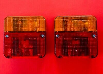 2 x 4 Function Square Tail Light/Lamp E Approved 12V Trailers/Vans/Boards/Trucks