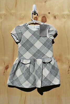 Girls' Clothing (newborn-5t) Baby & Toddler Clothing Mayoral Baby Toddler Girl Gray White Short Sleeve Dress 3 Years 3t A015