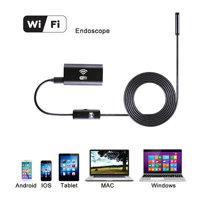 5M Wifi Endoscope Waterproof Inspection Borescope Camera Probe for iPhone BI561