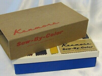 Vintage 1960's Sears Kenmore Sew By Color Sewing Attachments Kit 60837