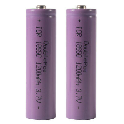 2x 3.7V 1200mAh 18650 Rechargeable Li-ion Battery for LED Flashlight Torch BC876
