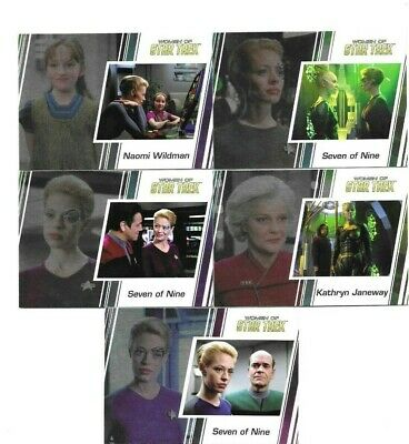 2017 5 Women Of Star Trek Cards Seven Of Nine Naomi Wildman Kathryn Janeway See