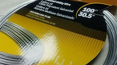 14 Gauge Galvanized Utility Wire 100 ft  30.5 M or 100 ft