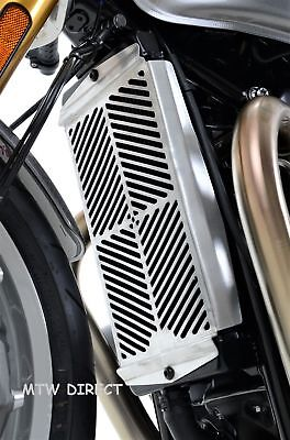 Triumph Speed Twin 1200 2019 R&G Racing Stainless Steel Radiator Guard SRG0047SS