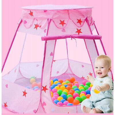 Starry Pop Up Fun Play Tent Playhouse For Girls Kids Baby Children Ball Pit