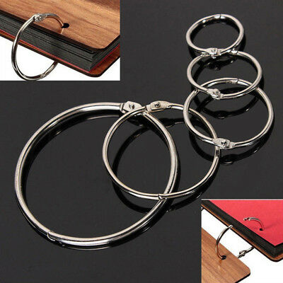 10X Metal Hinged Ring Book Binder Craft Photo Album Split Keyring Scrapbook Tool