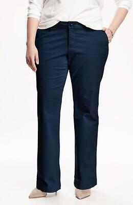 OLD NAVY by Gap ~ New! NWT Plus 20 Long 20L ~ Ink Blue BOOTCUT KHAKIS Pants