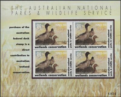 Australia Cinderella Ducks 1993 $10 Wood Duck MS MNH