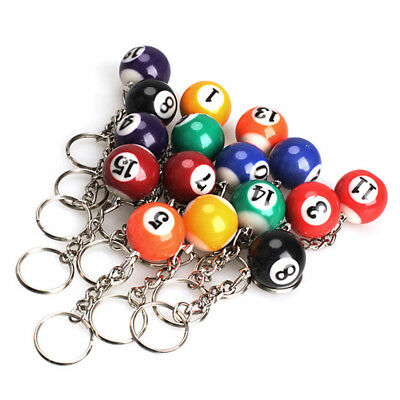 Pool Ball - Snooker- Numbers 1 to 15 Billiards Key Rings - Keychain Fans Favors