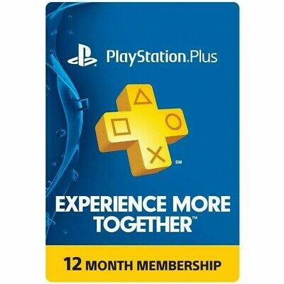 PlayStation Plus 12 Month 365 Day PSN Membership PS3 PS4 PS Vita UK NO CODE !!!