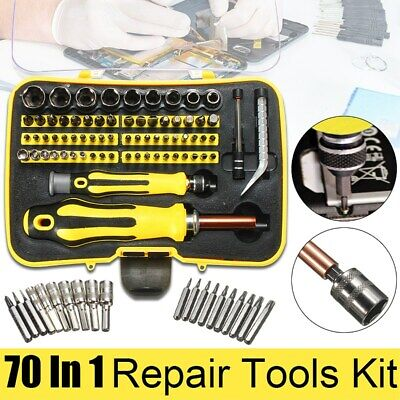 70 In 1 Precision Screwdriver Set Magnetic Repair Tool Mobile PC Phone + Case