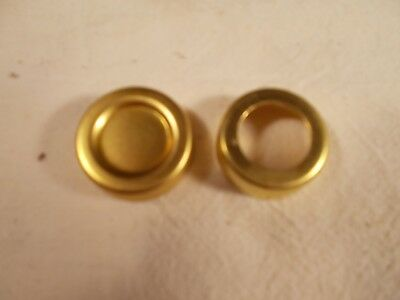Oil Lamp Replacement Solid Brass Screw on Oil Fill Cap & Threaded Collar