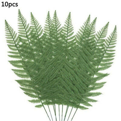 10pcs Artificial Fake Palm Leaves Green Plant Indoor Outdoor Wedding Party Decor