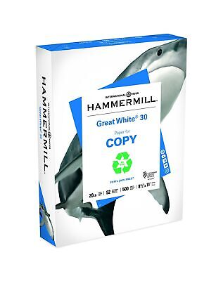 Hammermill Paper, Great White 100% Recycled Printer Paper, 8.5 x 11 Paper, Le...