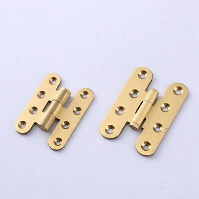 Home Antique Copper Hinge DIY Crafts Small Drawer Jewelry Box Door H-type LG