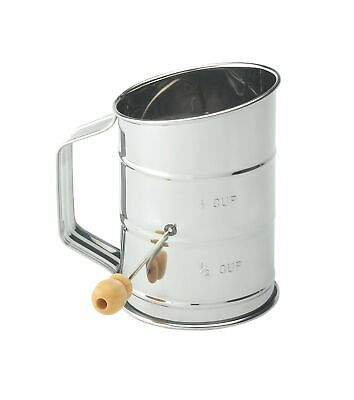 Mrs. Anderson's Baking Hand Crank Flour Icing Sugar Sifter, Stainless Steel, ...
