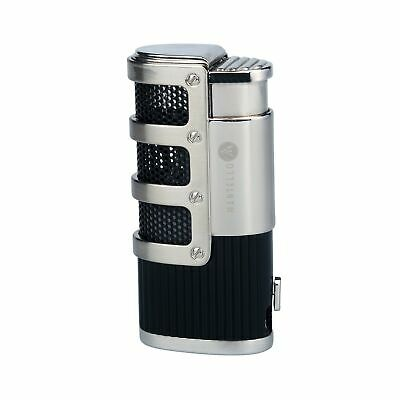Mantello Catador Triple Jet Flame Butane Cigarette Torch Lighter with Cigar P...
