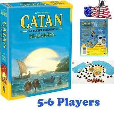 NEW Catan: Seafarers Expansion 5-6 Player Extension Board Games Free Shipping