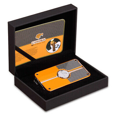StylishCOHIBA Classic 3 TORCH JET FLAME CIGAR CIGARETTE Metal LIGHTER with PUNCH