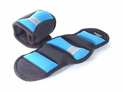 Tone Fitness Wrist/Ankle Weights, Pair Blue 3-Pound