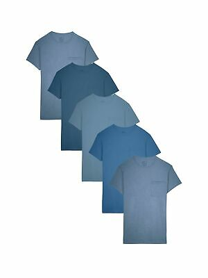 Fruit of the Loom Assorted Cotton Fashion Pocket T-Shirts - 5 Pack (5P3002C)