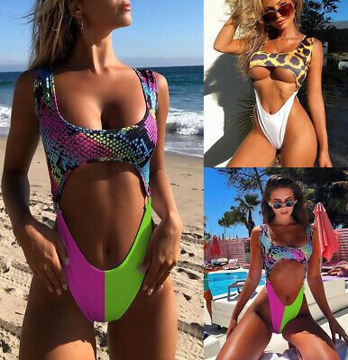 Brazilian Swimsuit Monokini Swimwear Bathing Suit Hollow Padded One Piece Bikini